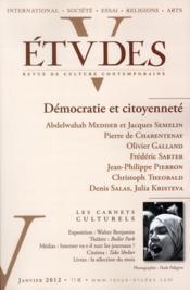 Revue Etudes Assas N.416 ; Démoncratie Et Citoyenneté - Couverture - Format classique