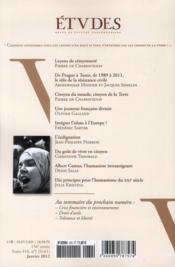 Revue Etudes Assas N.416 ; Démoncratie Et Citoyenneté - 4ème de couverture - Format classique