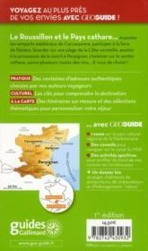 Geoguide ; Roussillon Et Pays Cathare - 4ème de couverture - Format classique