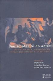 Une Solidarite En Actes - Couverture - Format classique