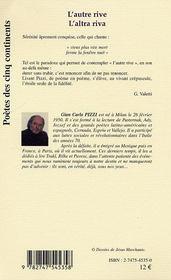 L'Autre Rive ; L'Altra Riva - 4ème de couverture - Format classique