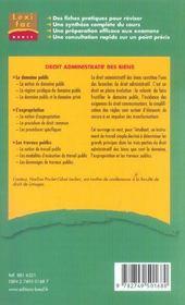Droit administratif des biens - 4ème de couverture - Format classique