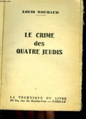 Le Crime Des 4 Jeudis - Couverture - Format classique