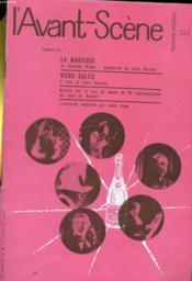 L'AVANT-SCENE - FEMINA-THEATRE N° 223 - LA MARIEUSE de THORNTON WILDER - Couverture - Format classique