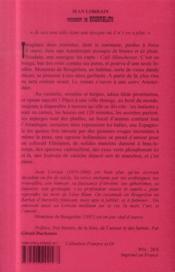 Monsieur de Bougrelon - 4ème de couverture - Format classique