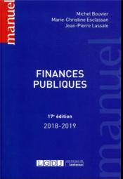 Finances publiques (17e édition) - Couverture - Format classique