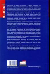 Finances publiques (17e édition) - 4ème de couverture - Format classique