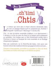 Petit dictionnaire insolite du ch'timi et des chtis - 4ème de couverture - Format classique
