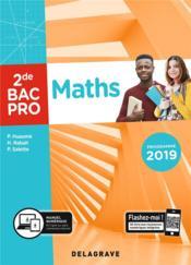 Maths ; 2de, bac pro ; pochette élève (édition 2019) - Couverture - Format classique