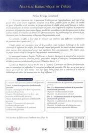 La protection juridictionnelle provisoire dans le procès civil en droits français et italien - 4ème de couverture - Format classique