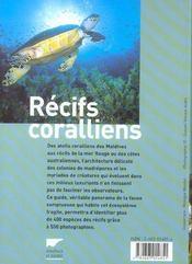 Récifs coralliens - 4ème de couverture - Format classique