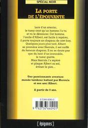 La Porte De L'Epouvante - 4ème de couverture - Format classique
