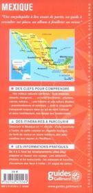Mexique (Mexico, Oaxaca, Veracruz, Chichen Itza, Acapulco, Chih - 4ème de couverture - Format classique