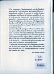Essai sur le systeme philosophique des stoîciens - 4ème de couverture - Format classique