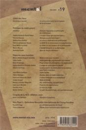 REVUE MENTAL N.19 ; les psychanalystes et le médicament - 4ème de couverture - Format classique