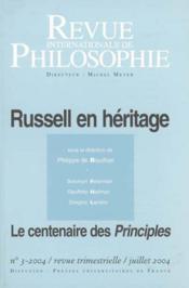 Revue Internationale De Philosophie N.229 ; Russel En Héritage (édition 2004) - Couverture - Format classique