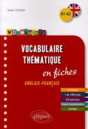 Vocabulaire thématique en fiches ; anglais-francais ; A1-A2 - Couverture - Format classique