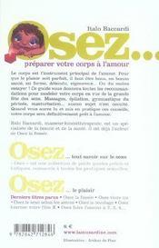 OSEZ ; préparer votre corps à l'amour - 4ème de couverture - Format classique
