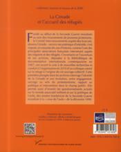 La cimade et l'accueil des réfugiés ; identités, répertoires d'actions et politique de l'asile, 1939-1994 - 4ème de couverture - Format classique