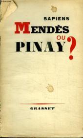 Mendes Ou Pinay? - Couverture - Format classique