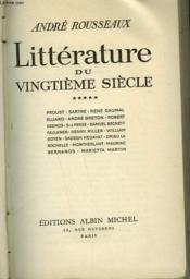 Litterature Du Vingtieme Siecle. Tome 5. - Couverture - Format classique