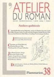 Revue L'Atelier Du Roman N.38 - Couverture - Format classique