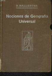 Nociones De Geografia Universal - Couverture - Format classique
