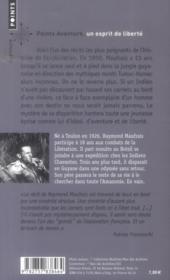 Aventures en Guyane ; journal d'un explorateur disparu - 4ème de couverture - Format classique