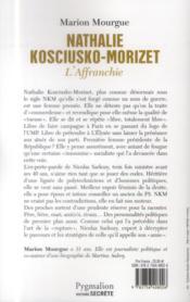 Nathalie Kosciusko-Morizet, l'affranchie - 4ème de couverture - Format classique