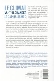 Le climat va-t-il changer le capitalisme ? la grande mutation du XXIe siècle - 4ème de couverture - Format classique