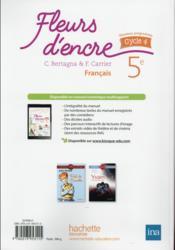 Fleurs D Encre Francais Cycle 4 5eme Livre De L Eleve Edition 2016 Bertagna Chantal Carrier Francoise