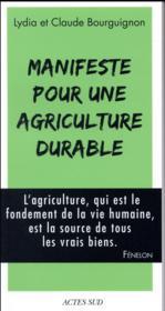 Manifeste pour une agriculture durable - Couverture - Format classique