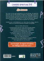 Cahiers Spiritual'été ; les runes (édition 2021) - 4ème de couverture - Format classique
