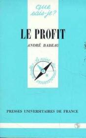 Le profit qsj 1349 - Couverture - Format classique