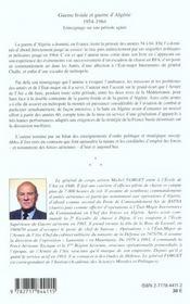 Guerre Froide Et Guerre D'Algerie ; Temoignage Sur Une Periode Agitee - 4ème de couverture - Format classique