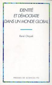 Identité et démocratie dans un monde global - Couverture - Format classique