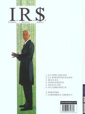 I.R.$ t.6 ; le corrupteur - 4ème de couverture - Format classique