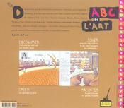 L'abc de l'art dessine et joue avec les grands peintres - 4ème de couverture - Format classique