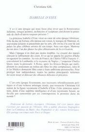 Isabelle D'Este - 4ème de couverture - Format classique