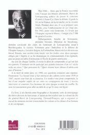 General Herve De Lencquesaing - 4ème de couverture - Format classique