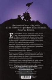Lettres d'Iwo Jima ; la plus violente bataille du Pacifique racontée par les soldats japonais - 4ème de couverture - Format classique