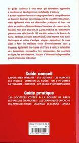 Guide Pratique De L'Actionnaire - 4ème de couverture - Format classique