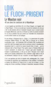 Le mouton noir ; 40 ans dans les coulisses de la République - 4ème de couverture - Format classique