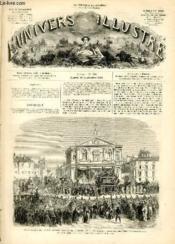 L'UNIVERS ILLUSTRE - HUITIEME ANNEE N° 468 Funérailles du pince Joseph Bonaparte, à Rome, le 7 Septembre - Couverture - Format classique