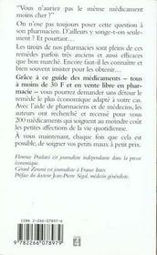 Deux Cents Medicaments A Moins De Trente Francs - 4ème de couverture - Format classique