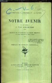 Notre Avenir. - Couverture - Format classique
