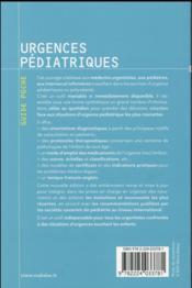 Urgences pediatriques, 2e ed. - 4ème de couverture - Format classique