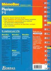 Memo physique term s - 4ème de couverture - Format classique