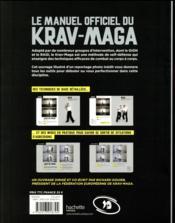 Le manuel officiel du krav-maga - 4ème de couverture - Format classique