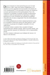 Droit criminel t.1 ; éléments préliminaires (3e édition) - 4ème de couverture - Format classique
